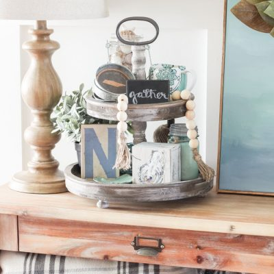 These Tiered Stands are perfect for every home and add instant farmhouse style! We've rounded up our favorites for every budget!