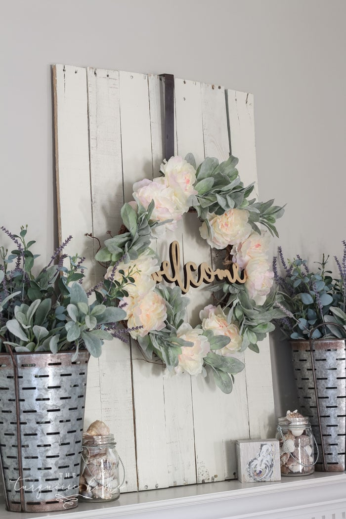 A Lamb's Ear Wreath with peonies is a super easy DIY project with tons of farmhouse charm.