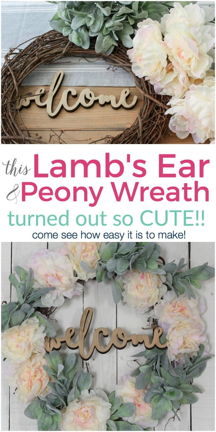 You've got to see how east this Lamb's Ear Wreath is to make! So cute!!