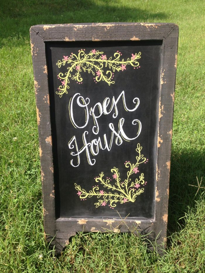 Open House hand lettered design from SHEdesigned