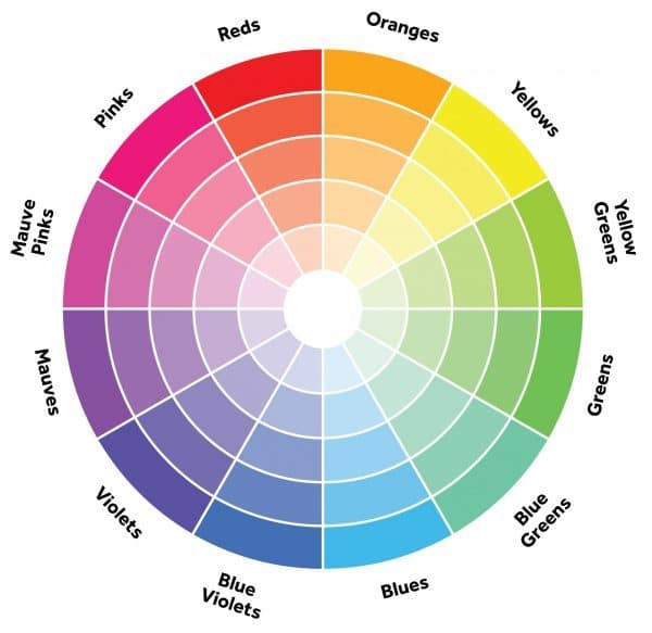 Use the color wheel to choose a whole house color palette.