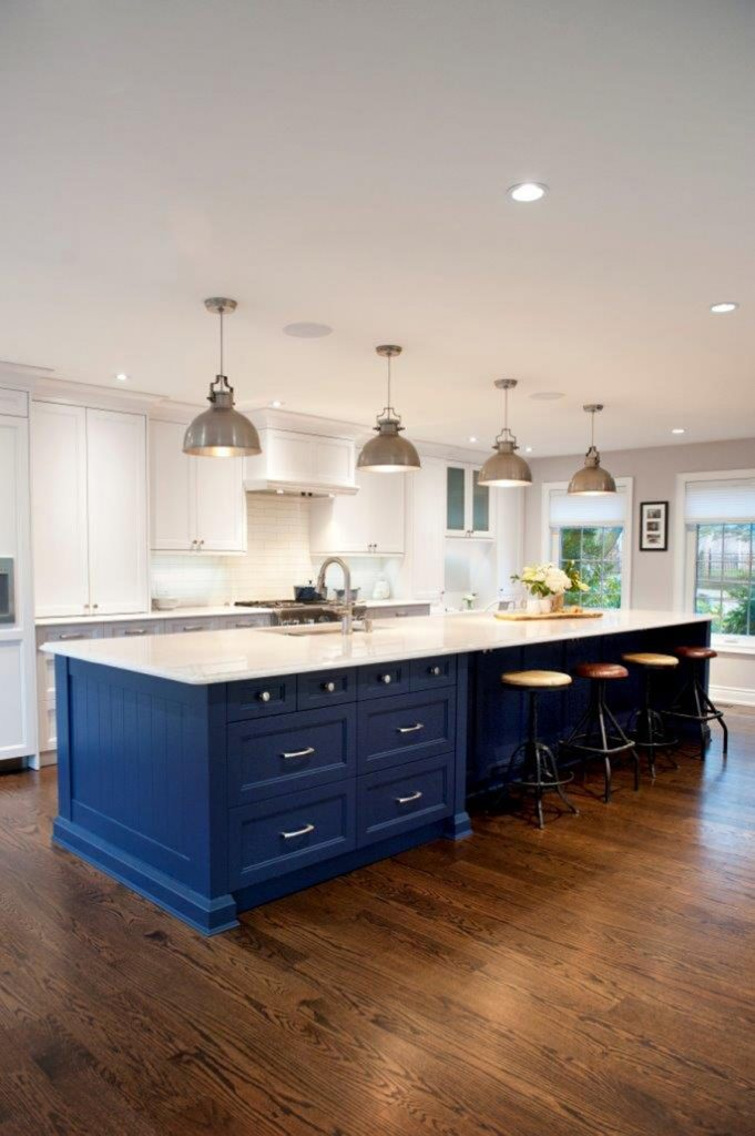 Joanna Gaines Blue Kitchen Island