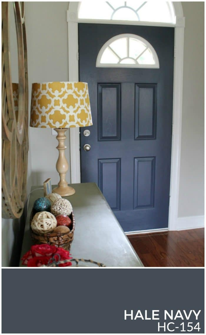 Hale Navy is a beautiful smokey gray navy that pairs really well with Revere Pewter and Wythe Blue. Makes a gorgeous neutral color palette! | How to Create a Whole House Color Palette