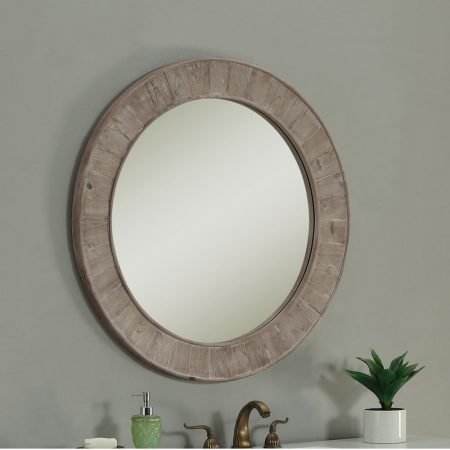Rustic Style Round Mirror from Overstock   10 Large Round Mirrors We Love!