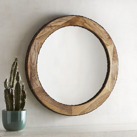 Dakota Live Edge Round Mirror from Pier 1 | 10 Large Round Mirrors We Love!