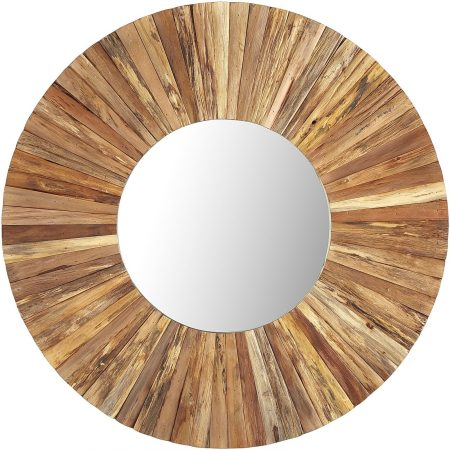 Eternal Natural Wood Framed Round Mirror from Pier 1   10 Large Round Mirrors We Love!