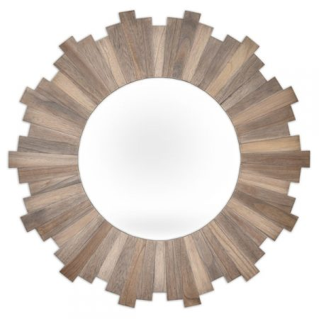 Stockholm Natural Wood Mirror from Overstock | 10 Large Round Mirrors We Love!