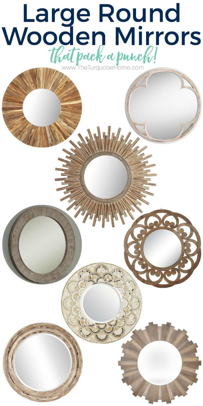 Love these large round mirrors! They are gorgeous and make a huge statement!