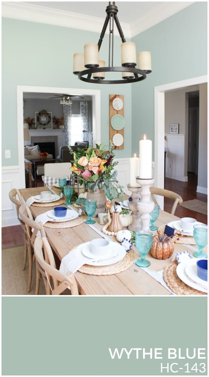 Wythe Blue is a gorgeous wall color for any space in the home! | How to Create a Whole House Color Palette