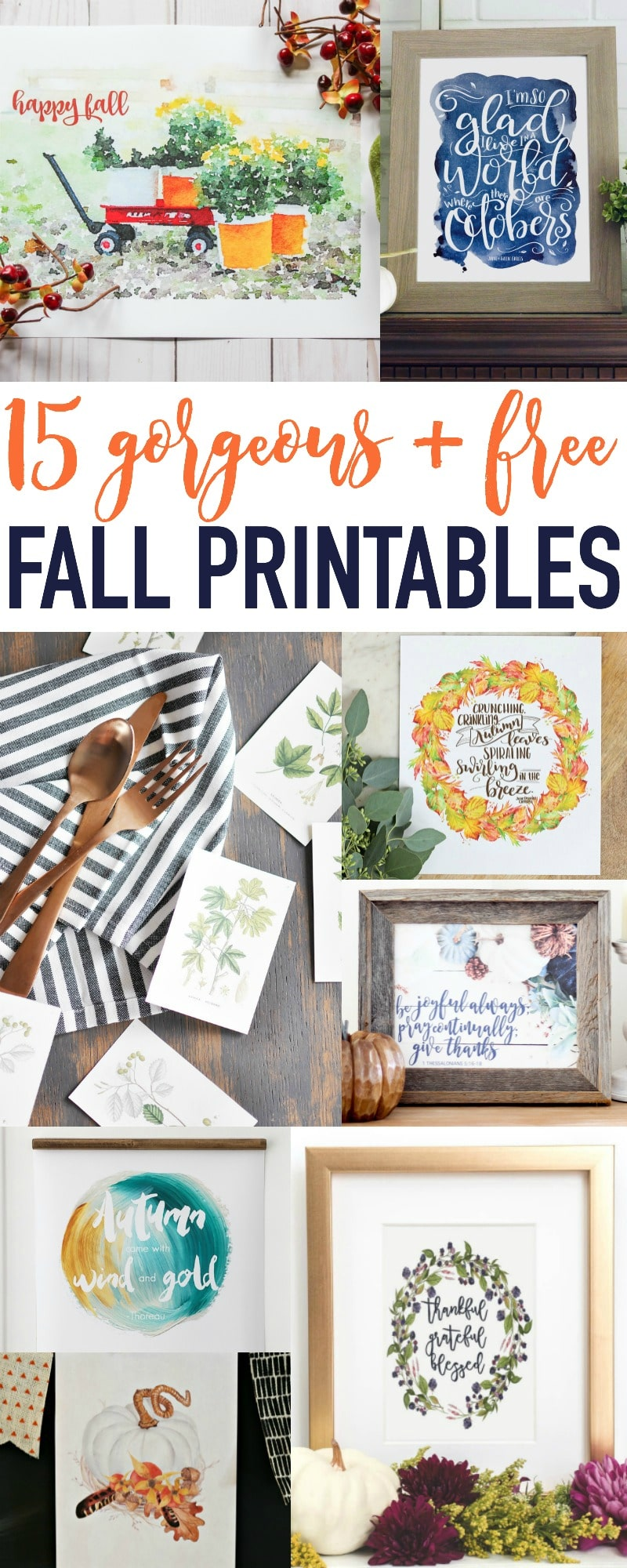 15 Gorgeous + Free Fall Printables - not to miss!!!