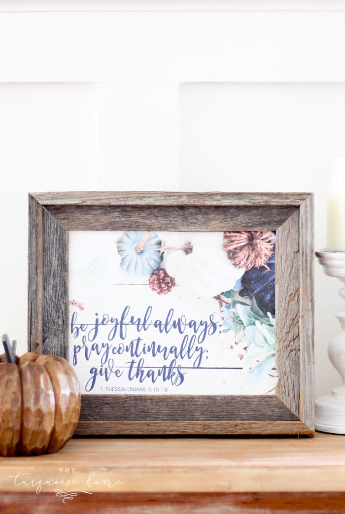 Be Joyful, Pray Continually, Give Thanks Free Fall Printable