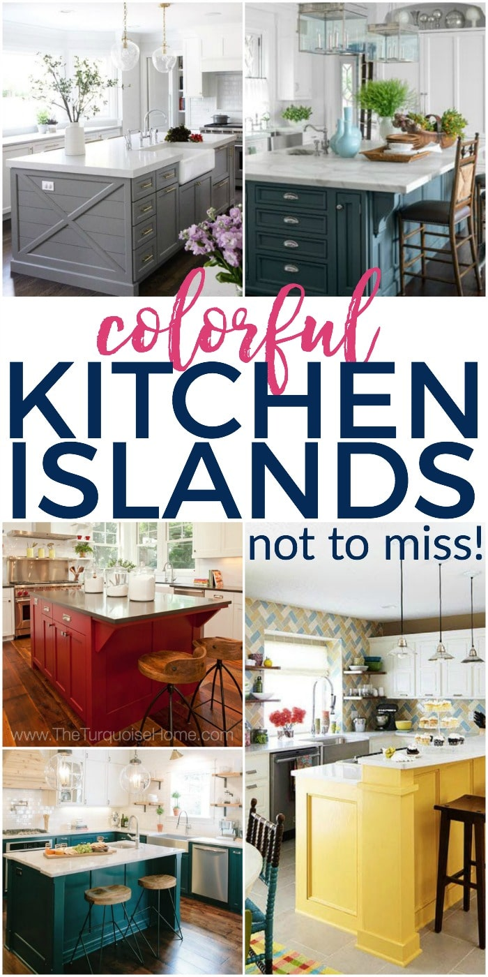 Colorful Kitchen Island Ideas - not to be missed! Click here for tons of inspiration!!