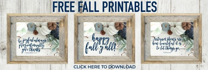 Three Free Fall Printables with gorgeous flat lay image!