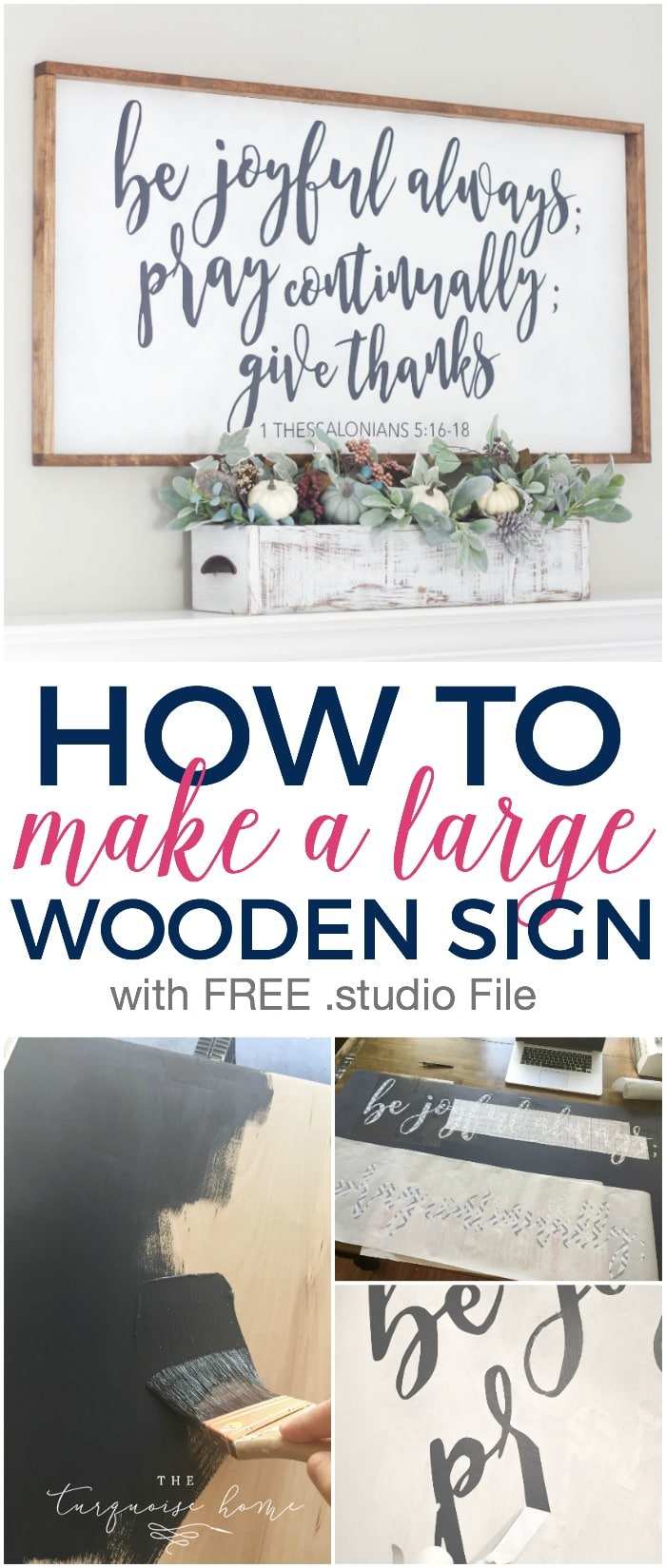 How to Make a Large Wooden Sign | The Turquoise Home