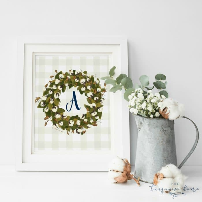 Is this not just the cutest thing you've ever seen?! These monogramed cotton stem free printables will look so cute in a farmhouse-styled home. Grab them in any monogram!
