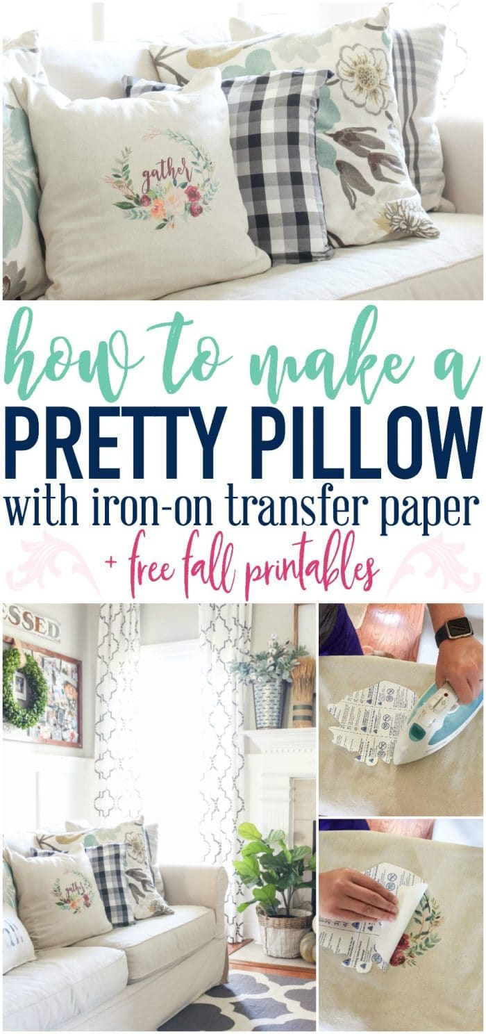graphic relating to Printable Iron on Transfer named How towards Deliver a Pillow with Iron Upon Shift Paper + a totally free