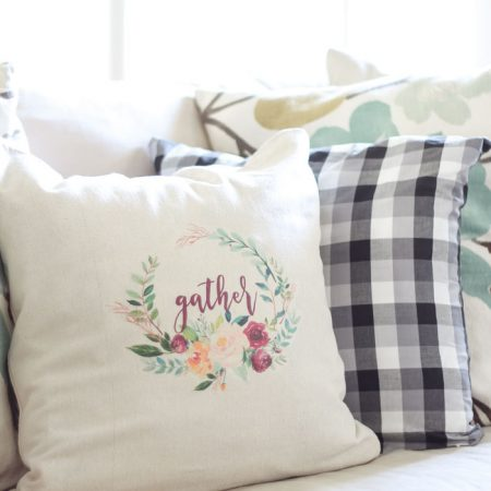 How to Make a Pillow with Iron On Transfer Paper + a free printable!
