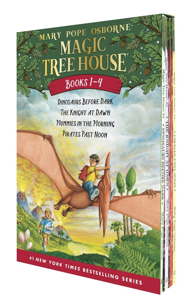 The Magic Treehouse series is perfect for emerging young readers and keeping them interested in the mysterious stories!