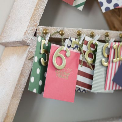 DIY Snowy Christmas Tree Shelf + Advent Calendar