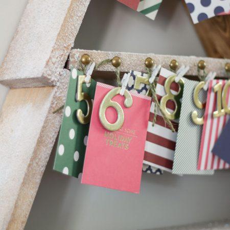 DIY Snowy Christmas Tree Shelf + Advent Calendar