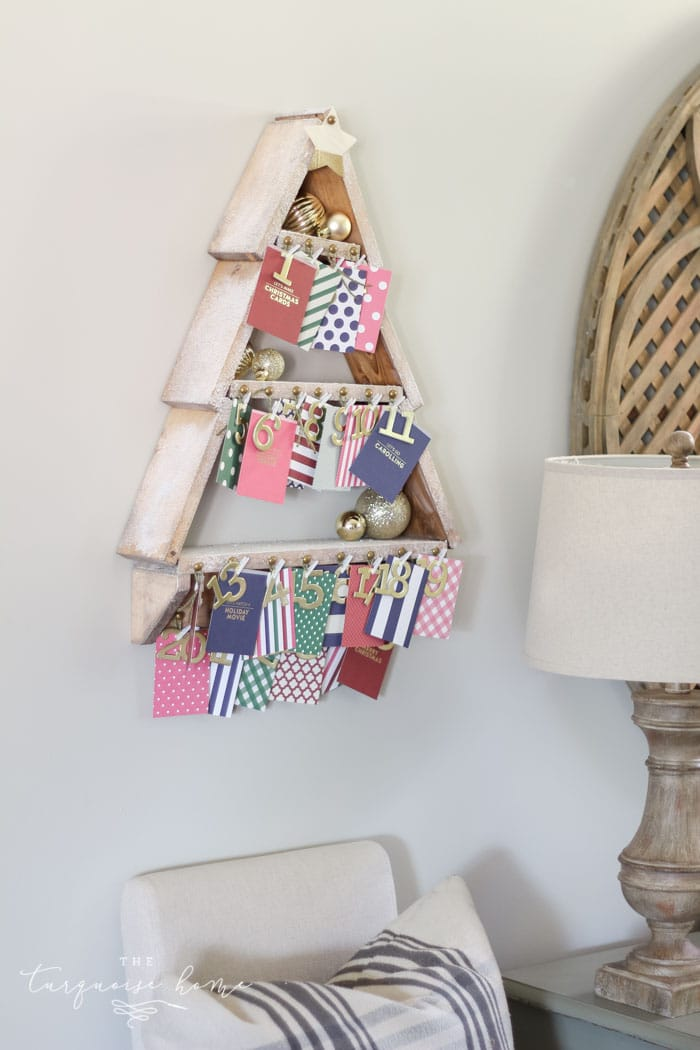 the most adorable diy snowy christmas tree shelf lends itself to the perfect spot for an