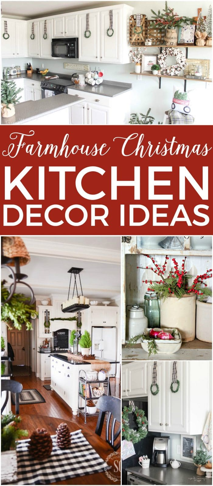 farmhouse christmas kitchen decor ideas all the inspiration you need to decorate your kitchen for - Christmas Kitchen Decor