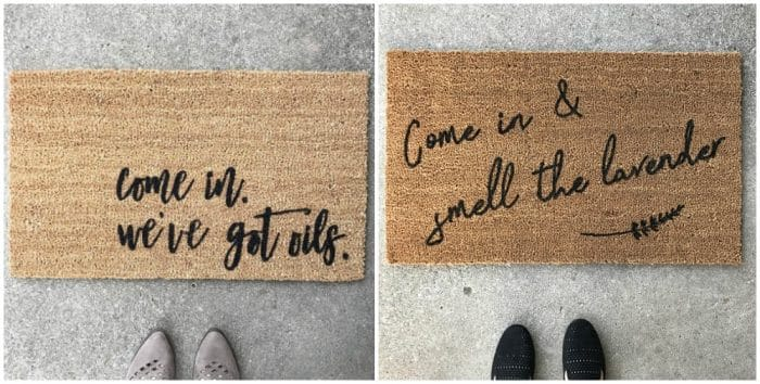 Cute doormats are the best gift! Got an oiler on your holiday gift list? Then I've got you covered! Top gifts for the essential oil lover.