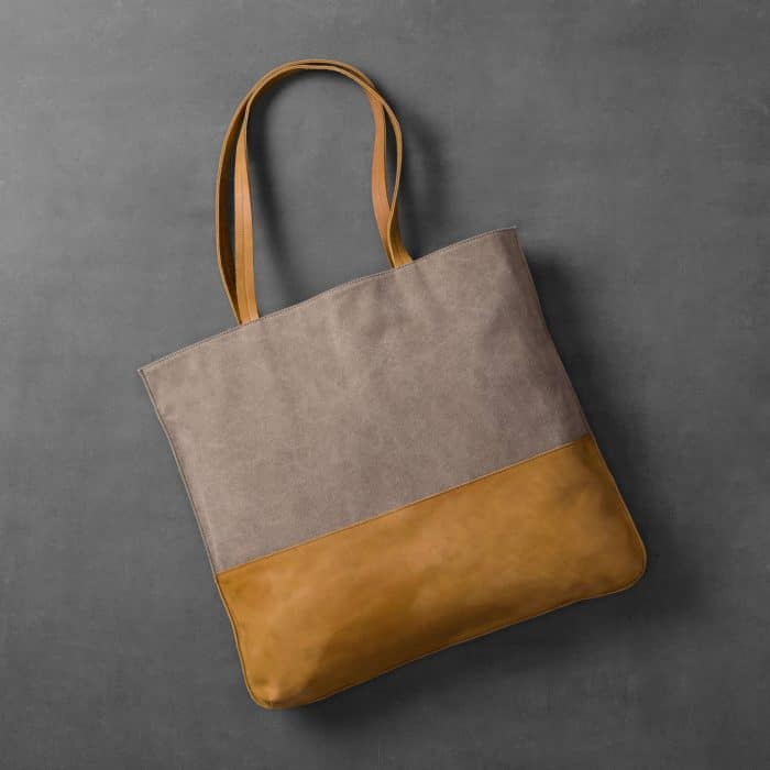Hearth & Hand with Magnolia Leather and Canvas Tote