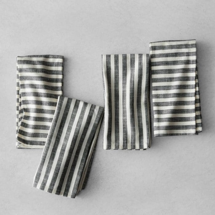 Hearth & Hand with Magnolia Striped Black and Cream Napkins