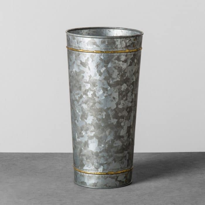 Hearth & Hand with Magnolia Galvanized Vase with Flower Frogger