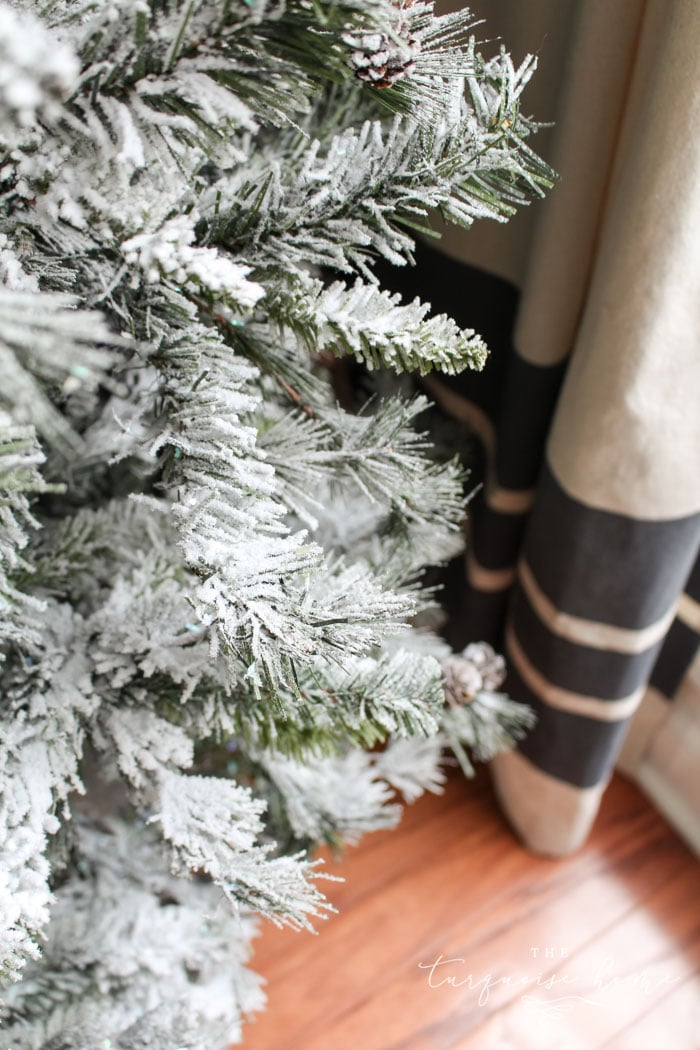 Make your wintery tree dreams come true! How to Flock a Christmas Tree the easy way!