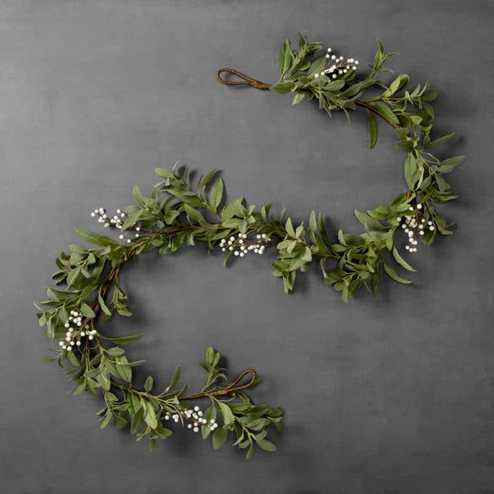Hearth & Hand with Magnolia Artificial Lamb's Ear White Berry Garland