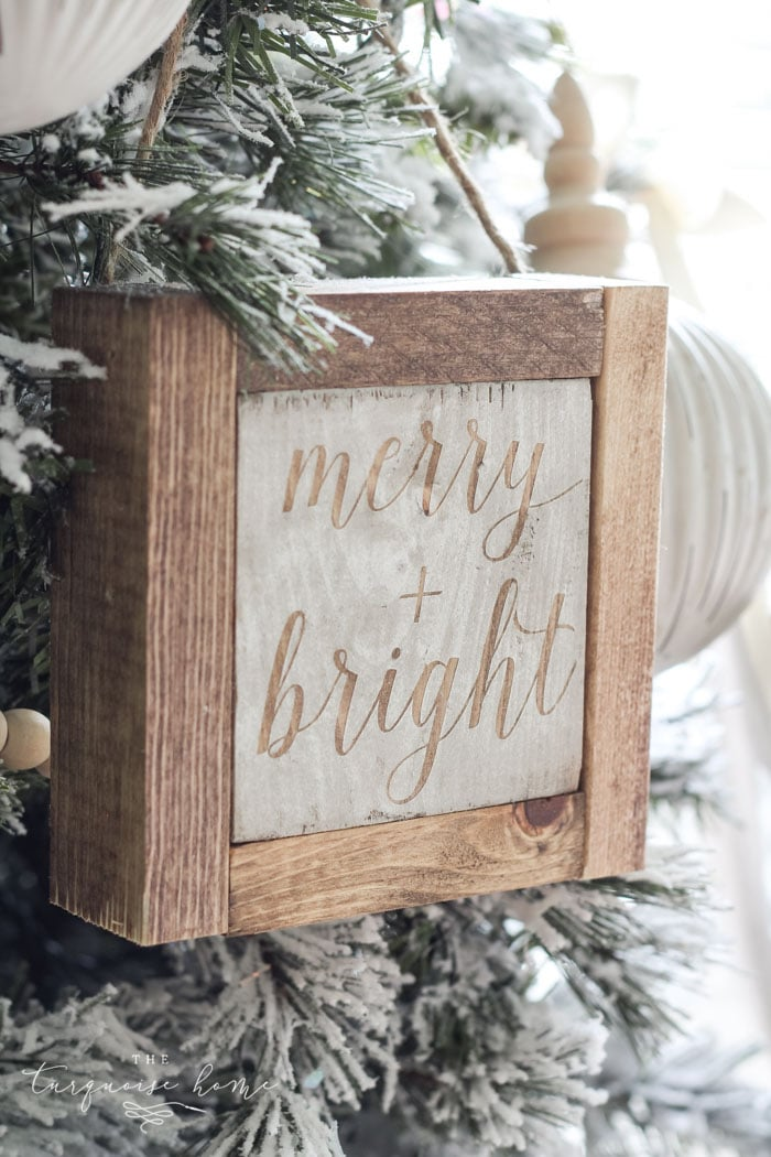 Mini wooden christmas sign ornaments more diy