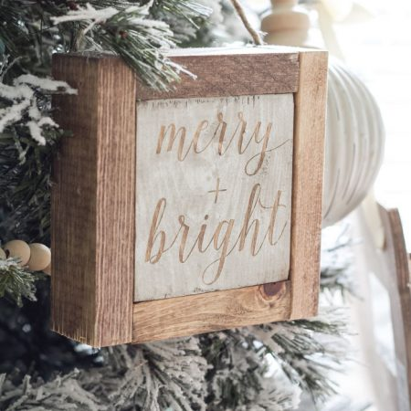 Mini Wooden Christmas Sign Ornaments + 11 More DIY Ornament Ideas!