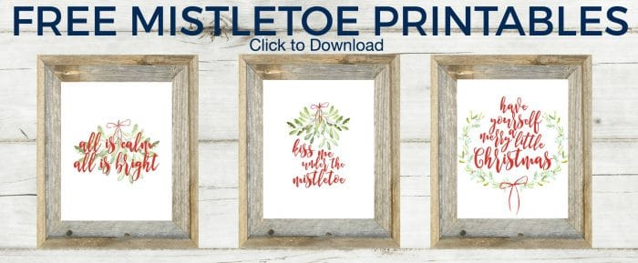 Such a fun way to usher in the Christmas spirit! Download your FREE mistletoe printables this Christmas!