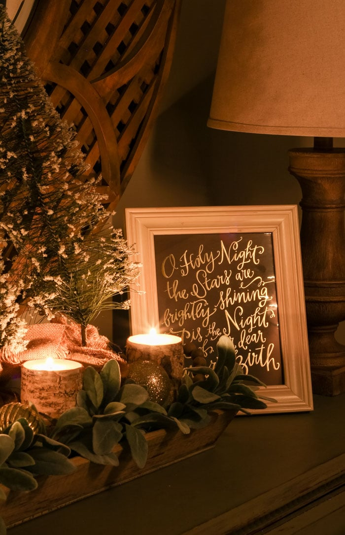 Christmas Nights Home Tour and a Christmas Interview by Candlelight