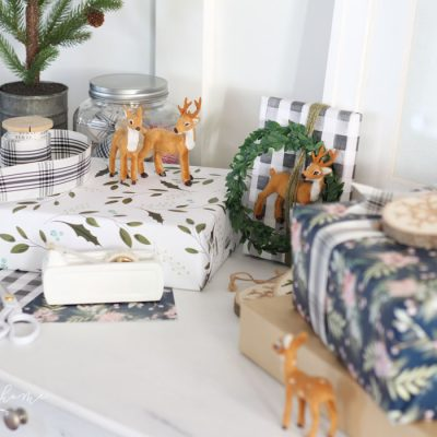 A Christmas Gift Wrapping Station + Simple Gift Wrapping Tips