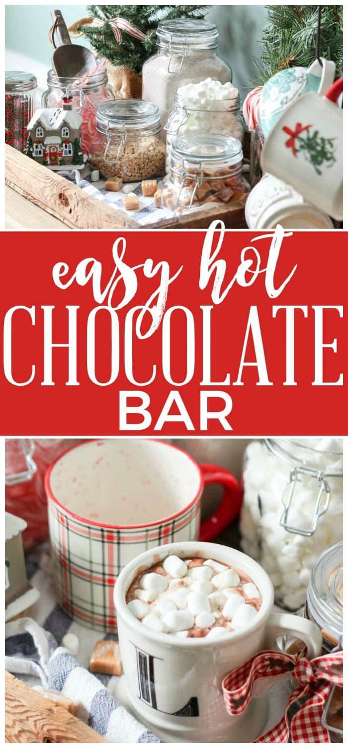An easy Hot Chocolate Bar. Perfect for entertaining or just enjoying for yourself all winter long!