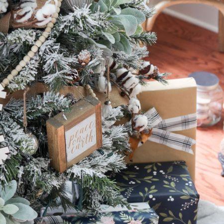 Flocked Farmhouse Christmas Tree