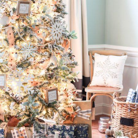 12 of the Prettiest Flocked Christmas Trees
