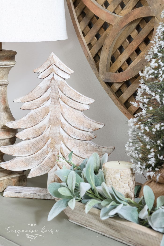 A neutral Christmas entry way - not too fussy or fancy!
