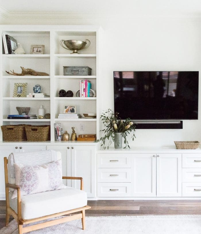 California Bohemian Style Bookshelves with TV