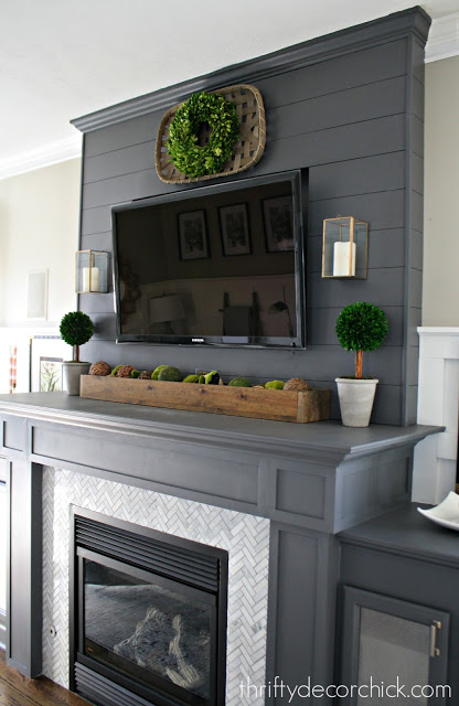 Gorgeous Mantel with TV Above It
