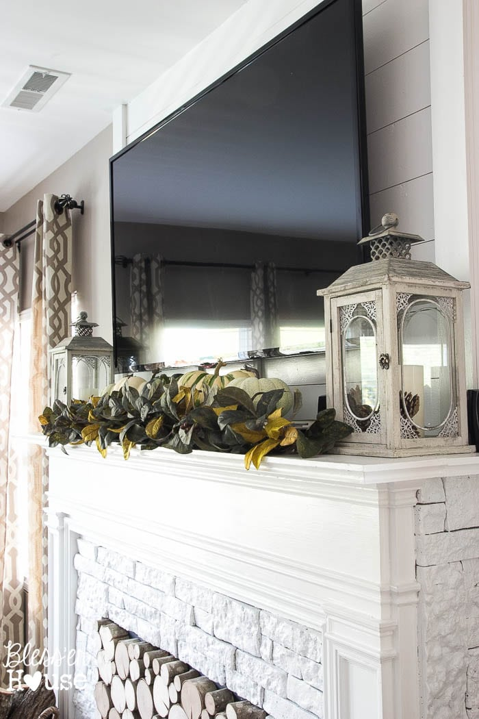 Beautiful Mantel with TV from Blesser House