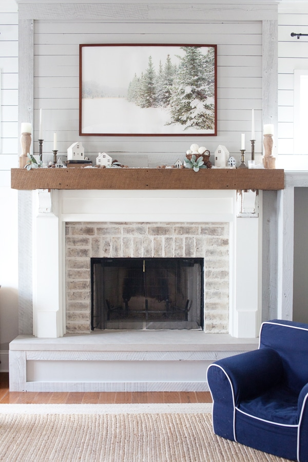 Fireplace Makeover Inspiration from The Lettered Cottage