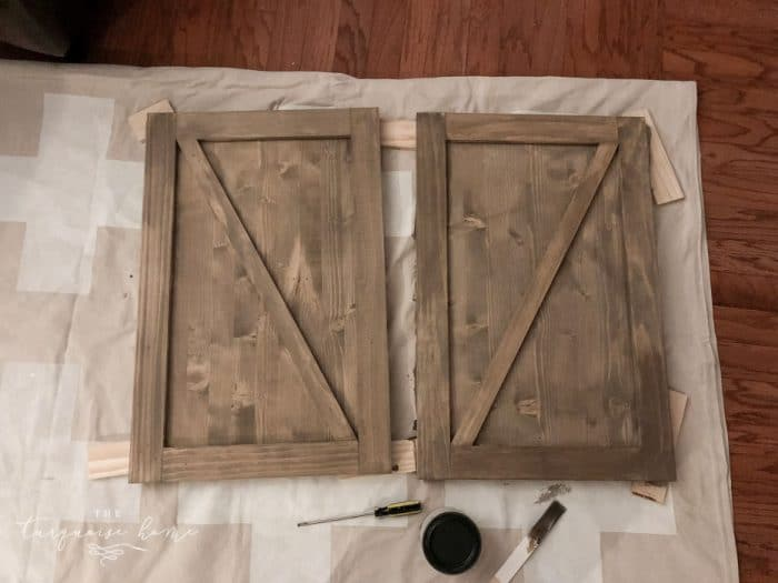 DIY Sliding Door Farmhouse Buffet | Making the sliding barn doors