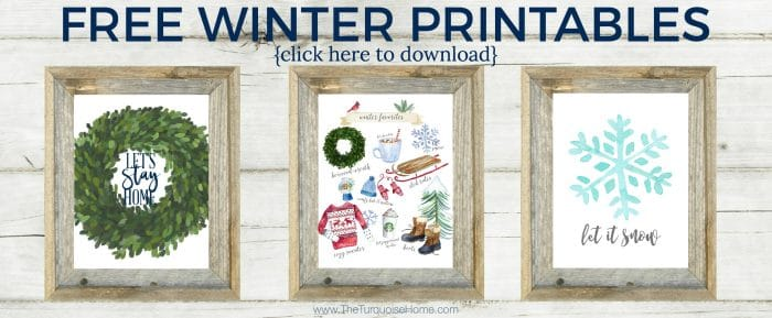 Free Winter Printables - just for you!!
