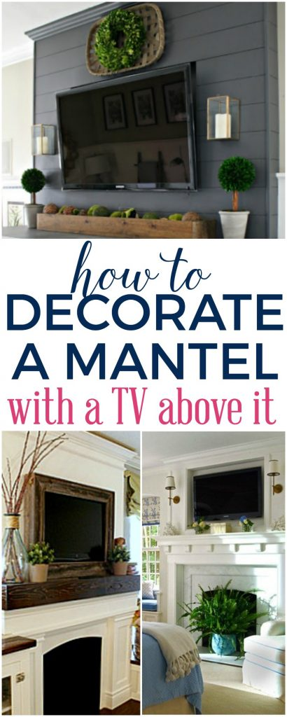 How To Decorate A Mantel With A Tv Above It The Turquoise Home