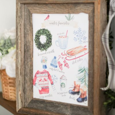 Winter Favorites Printable - so fun and cute!