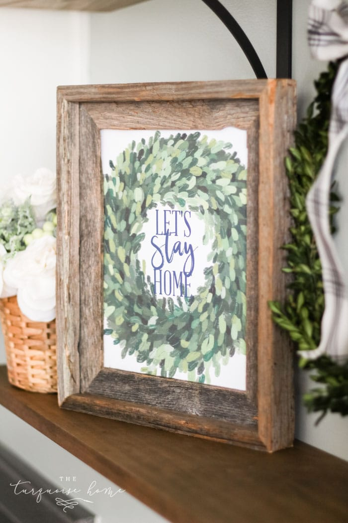 Let's Stay Home winter printable - my truest feelings about this season!